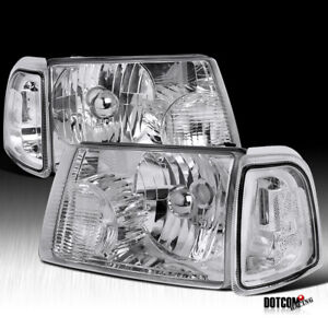 For 2001 2011 Ford Ranger Crystal Clear Headlights corner Lamps Signal Lights