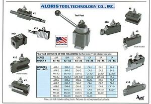 Aloris Ca Quick Change Lathe Tool Post 10 Holder Set 4 as