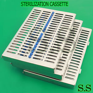 5 Dental Autoclave Sterilization Cassette Rack Box Tray For 20 Instrument