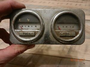 Vintage Ks Gauges Gauge Set Battery Temp Fuel Oil Pressure Cluster Hot Rat Rod
