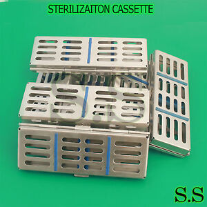 10 Dental Surgical Sterilization Cassette Racks Box For 5 Instruments 7 X 2 5