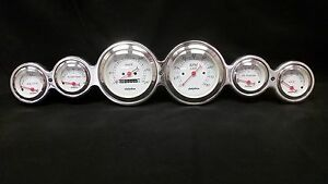 6 Gauge Street Rod Hot Rod Universal Dash Cluster Metric