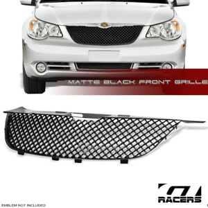 For 2007 2010 Chrysler Sebring Matte Black Luxury Mesh Front Bumper Grill Grille