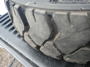 Used 5 lug Forklift Rim And Tire 5 00 8 10 Ply Tire needs Tube