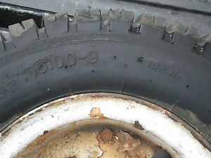 Used 5 lug Forklift Rim And Tire 6 00 9 10 Ply Tire needs Tube
