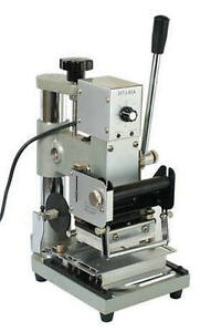 Hot 220v Foil Stamping Machine Manual Bronzing Stamper For Pvc Card Wtj 90a