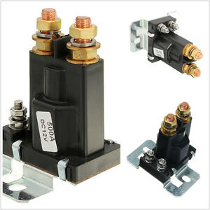Over Dc12v 500a 4 Pin Autos Off Road Battery Isolator Relay Start Switch On Off