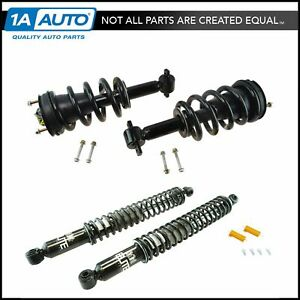 Front Rear Air Ride Suspension To Complete Loaded Strut Spring Shock Coil Kit