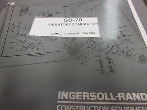 Ingersoll Rand Sd 70 Vibratory Compactor Parts Manual