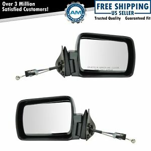 Manual Remote Mirror Pair Set Left Right For Jeep Comanche Cherokee Wagoneer