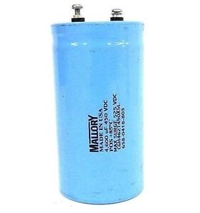 New Mallory Cgh462t450x5l Aluminum Electrolytic Capacitor 4600uf 450vdc