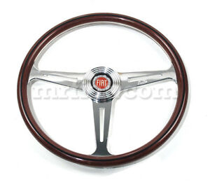 Fiat 850 Coupe Spider 1100 D R Wood Steering Wheel 360 Mm New