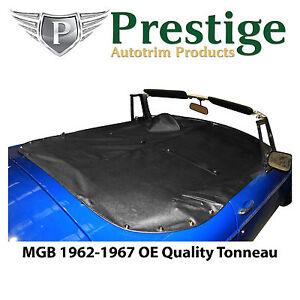 Mgb Tonneau Cover Black Factory Quality Vinyl Without Headrest Pockets 1962 1967