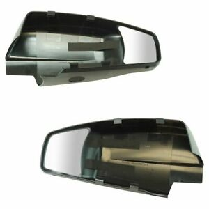 Clip On Mirror Extension Set Pair For Chevy Silverado Gmc Sierra Truck Pickup