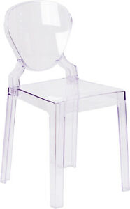 Lot Of 10 Ice Cream Yogurt Shop Transparent Ghost Crystal Chair With Tear Back