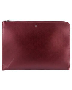Montblanc Meisterst ck Portfolio With Zip Burgundy Leather 114522 New In Box
