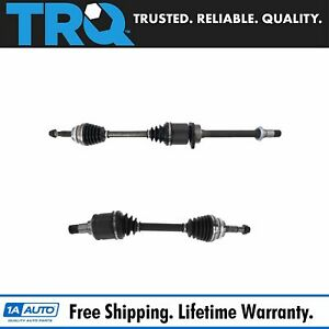 Trq New Complete Cv Axle Shaft Assembly Front Pair Set For Toyota Rav4 Scion Tc