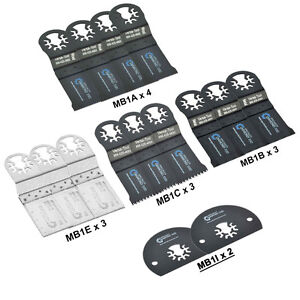 Mbmtkit1 Pack Of 15 Universal Oscillating Multitool Blades Accessory Combo Kit