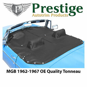 Mgb Tonneau Cover Black Factory Quality Vinyl With Headrest Pockets 1962 1967