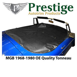 Mgb Tonneau Cover Black Factory Quality Vinyl Without Headrest Pockets 1968 1980