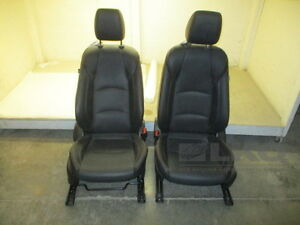 2015 Mazda 3 Pair Black Leather Front Seats W Airbags Air Bags Oem Lkq
