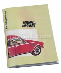 Fiat Dino 2400 Coupe Instruction Manual German New