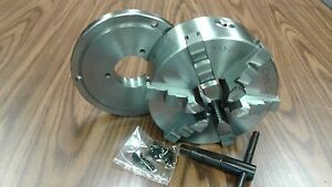 8 6 jaw Self centering Lathe Chuck W solid Jaws W D1 4 Adapter new
