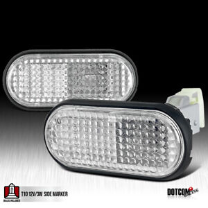 Fit 1992 1995 Honda Civic Flat Clear Fender Side Marker Lights Lamps Left Right