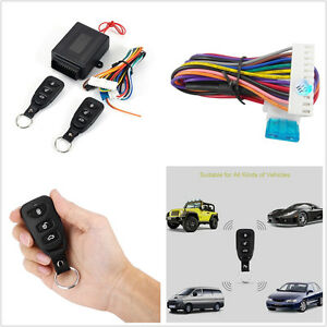 Black 10 14v Wireless Remote Control Car Suv Truck Keyless Entry System Lock Kit