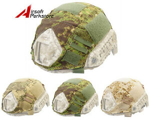 Airsoft Tactical Military Helmet Cover for Ops-Core Fast Helmet BJPJMH Camo