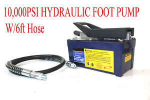 New 10000psi Air Hydraulic Foot Operated Pump With 6ft Hose
