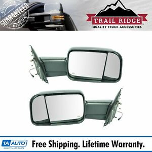 Trail Ridge Towing Mirror Power Heated Signal Textured Black Pair For Dodge Ram
