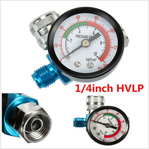 1 4in Hvlp Spray Paint Gun Air Regulator With Pressure Gauge Digital Compressor