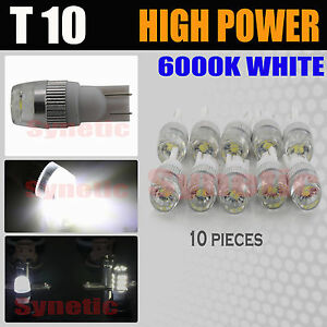 Syneticusa T10 921 6000k White Interior Kit Package License Plate Led Light Bulb