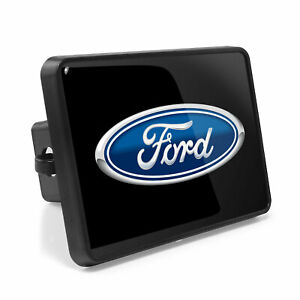 Ford Logo Uv Graphic Metal Plate On Abs Plastic 2 Tow Hitch Cover Made In Usa