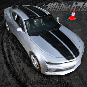 2016 2017 Chevy Camaro Rally Racing Stripes Hood Roof Trunk Vinyl Decals Graphic