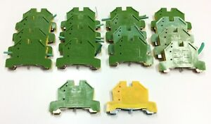 Lot Of 18 Morsettitalia Euro E4 Terminal Blocks Din Rail Wire Size 24 10 Awg