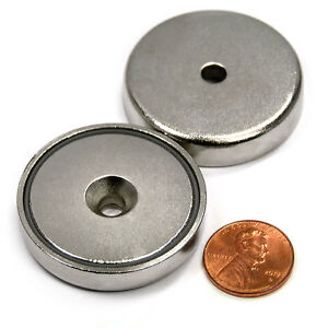 Cms Magnetics 112 Lb Holding Power Neodymium Cup Magnet 1 57 W 10 Countersink