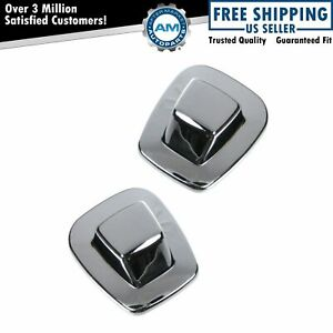 Rear License Plate Light Lens Chrome Pair Set For Chevy Tahoe C K Pickup Truck