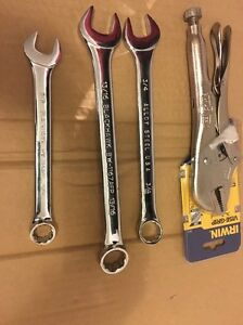 Lot Of 4 New Hand Tools 3 Wrenches 1 Vise Grip Pliers See Desc