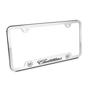 Cadillac Polished Chrome Stainless Steel 50 States License Plate Frame