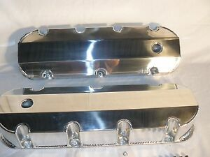 Bbc Big Block Chevy 427 454 496 Fabricated Tall Valve Covers Polished