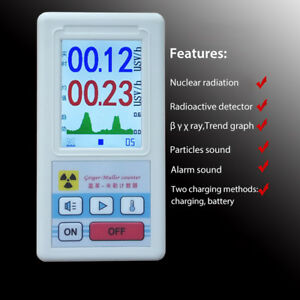 Geiger Counter Nuclear Radiation Detector Personal Dosimeters Marble Meter
