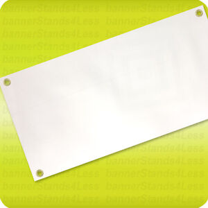 3x8 Blank Vinyl Banner White 13oz Sign With Grommets