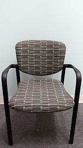 Haworth Improv Seating Stacking Guest Conference Office Guest Chairs New Grey