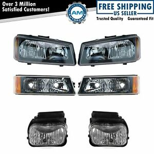 Headlight Parking Fog Driving Light Lamp Lh Rh Set Of 6 For Chevy Silverado New