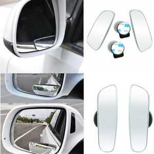 360 Wide Angle Convex Rear Side 2pcs View Blind Spot Mirror For Universal Car