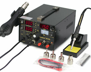 3in1 Yihua 853d 2a W Usb Soldering Rework Station Hot Air Rework Station 220v