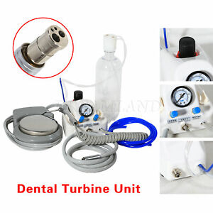 Dental Portable Turbine Unit Work With Air Compressor 4 holes 3 Way Syringe