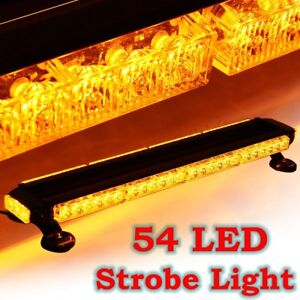 26 5 Amber 54w Led Traffic Advisor Double Side Emergency Flash Strobe Light Bar